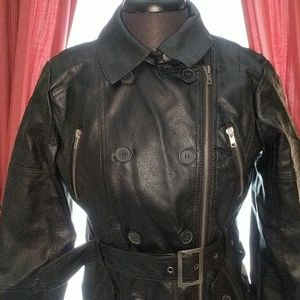 River Island Large Black Faux Leather Jacket